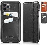 KAVAJ Hülle geeignet für Apple iPhone 12/12 Pro 6.1' Leder - Dallas - Schwarz Handyhülle Case Lederhülle mit Kartenfach