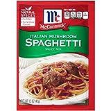 McCormick Italian Mushroom Spaghetti Sauce, 1.5 oz (Pack of 12)