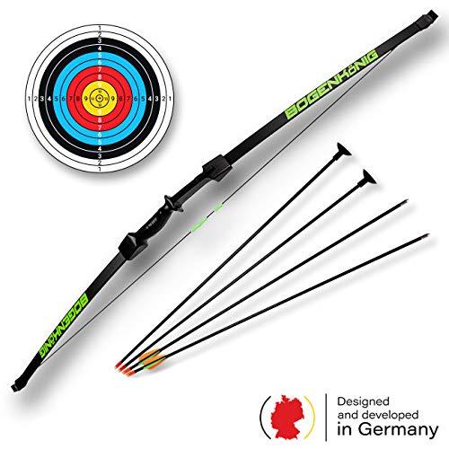 Bogenkönig - Set di frecce e arco per ragazzi, per principianti, 6,8 kg
