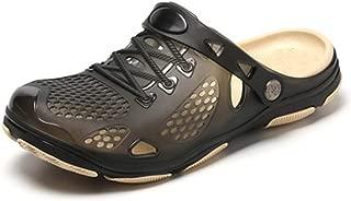 Zardimanfy Men's Clogs Garden Beach Shower Sandals Garden Slip on Massage Outdoor Walking Summer Slippers for Men