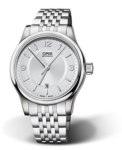Oris hombre 73375944031MB, pantalla Swiss analógico clásico reloj de plata automático de Oris