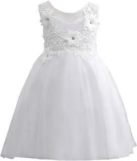 Flower Girl Evening Dresses Cute Kids Lace Pageant Ball Gowns