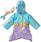 Kidorable Mermaid Raincoat, Aqua Blue, 12 18M