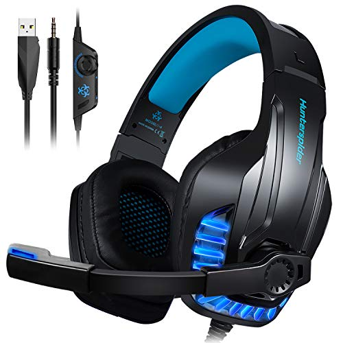 Galopar Gaming Headset, Gaming Kopfhörer mit Mikrofon, Bass Stereo Surround, kompatibel mit PS4 / Xbox One/PC/Laptop/Nintendo Switch und Mobile