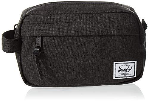 Herschel Chapter Travel Kit, Black Crosshatch