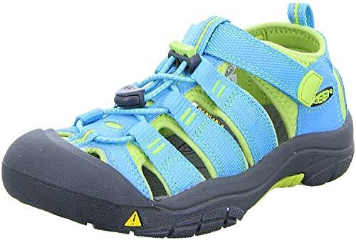 Keen Unisex-Kinder Newport H2 Sandalen Trekking-& Wanderschuhe, Blau Hawaiian Blue Green Glow, Gr.- 31 EU