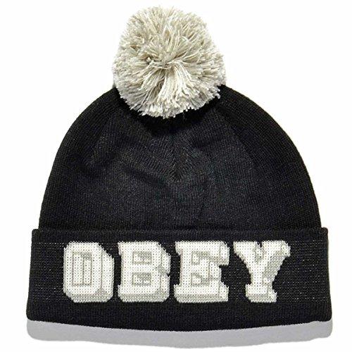 Obey - Bonnet Homme University Pom Pom Beanie - Black
