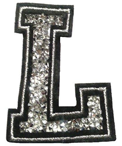 Bügel Iron on Buchstaben Aufnäher Patches groß für Jacken Cap Hosen Jeans Kleidung Stoff Kleider Bügelbilder Sticker Applikation Aufbügler zum aufbügeln L CA 8-10 cm