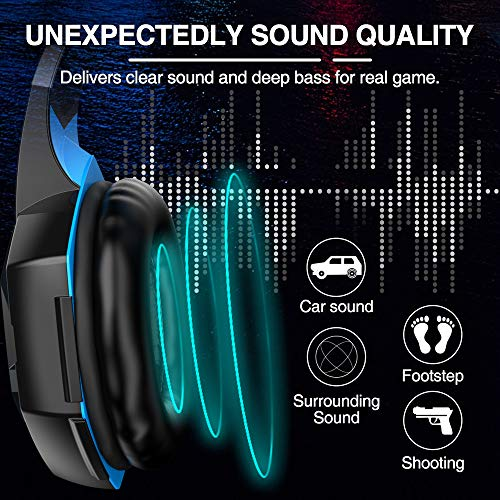 VersionTECH. G2000 Gaming Headset, Surround Stereo Gaming Headphones with Noise Cancelling Mic, LED Light