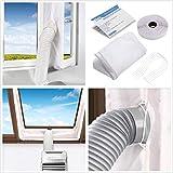 Mayepoo 300CM Joint de Fenêtre pour La Climatisation Mobile Tissu De Calfeutrage De Fenêtres, Arrêt d'air Chaud Facile à Installer Pas Besoin de Trous de Forage