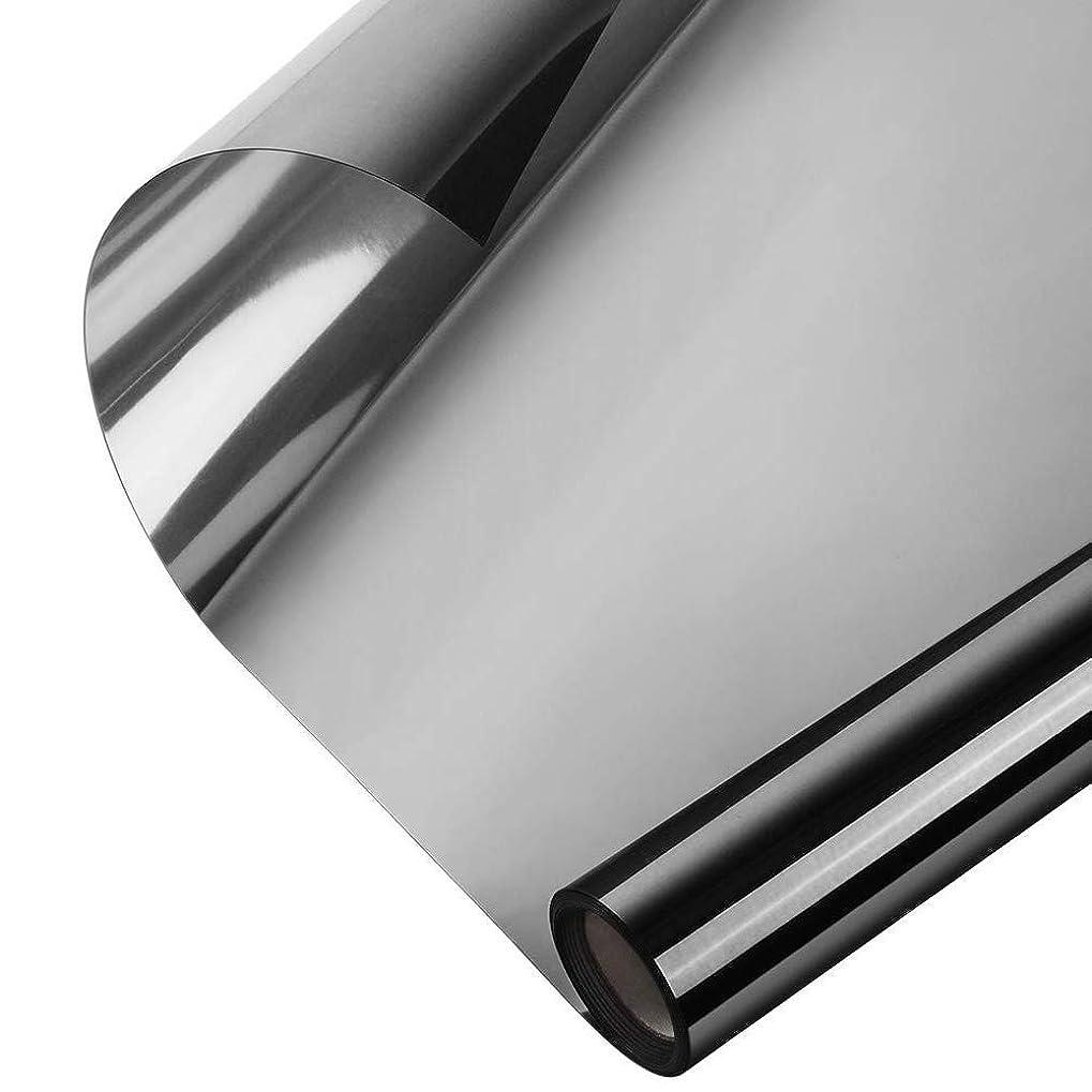 その後過半数ちっちゃいAlligado ミラーウィンドウフィルム反射ウィンドウフィルム一方向ミラー効果昼間プライバシーステッカーガラスの色合い自己接着ソーラーコントロール断熱材ミラーウィンドウ熱制御フィルム