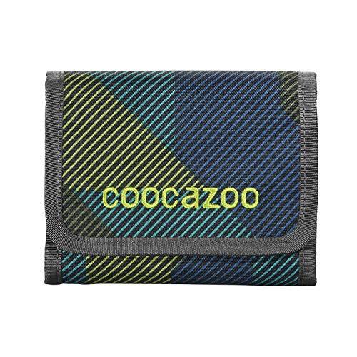 """coocazoo Geldbeutel CashDash """"Polygon Bricks"""", blau/grün, Portmonnaie mit Sichtfenster, Münzfach, viele Kartenfächer, Klettverschluss, für Jungen ab der 5. Klasse"""