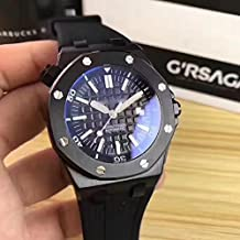 Luxury Brand Stainless Steel All Black Color Automatic Movement Rubber Strap Diver's Oak Watch Watches