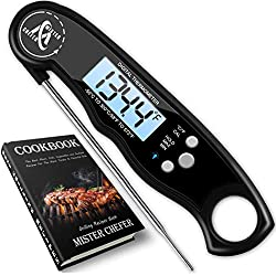 Instant Read Thermometer Best Waterproof Digital Meat Thermometer