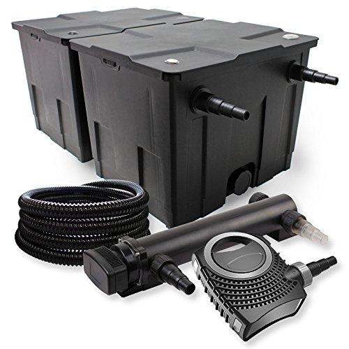 SunSun 2-Kammer Filter Set 60000l 36W UVC 3er Teich Klärer NEO8000 70W Pumpe Schlauch