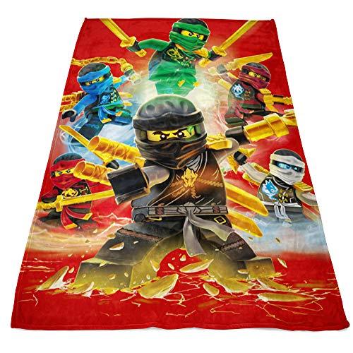 Lego Ninjago Große Decke Fire 120 x 150 cm Cole Jay Kai Lloyd Zane Nya Misako Sensei Wu Lord Garmadon weiche Kinder Flauschdecke Kuscheldecke Wohndecke Fleecedecke Sofadecke Pass. zur Bettwäsche