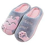 MoneRffi Pantofole da Casa Donna Inverno Caldo Peluche Pantofole Uomo Coppia Pantofole Morbide Comode Gatto...