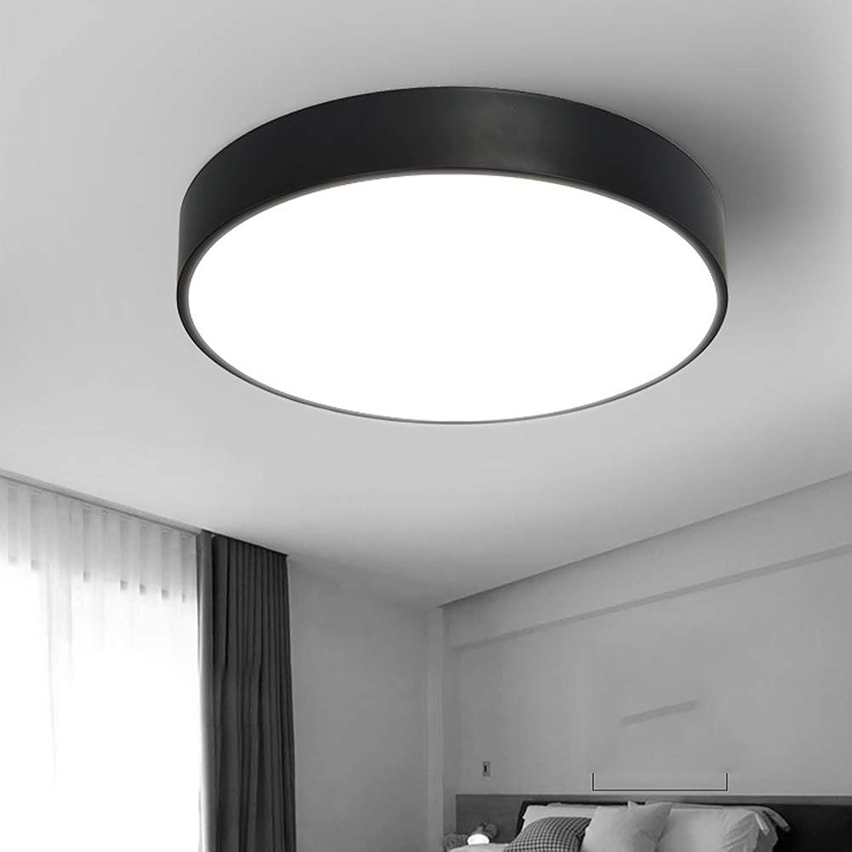 FCX-LIGHT Deckenleuchte Led Deckenlampe Modern Dimmbar FüR Schlafzimmer KüChe Balkon Korridor BüRo Esszimmer Wohnzimmer Decken Lampe,schwarz,36W40CM