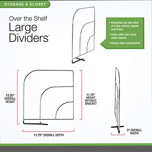 Use dividers to store clothes on closet shelves and save space in a small bedroom