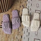 Mfacl Zapatillas para Mujer Diapositivas Juego de Punta Abierta Pie 2021 Vacaciones Playa Playa Sandalias Playa Casual Flip Flops Zapatos (Color : Set of 2 Color, Shoe Size : 37 EU)