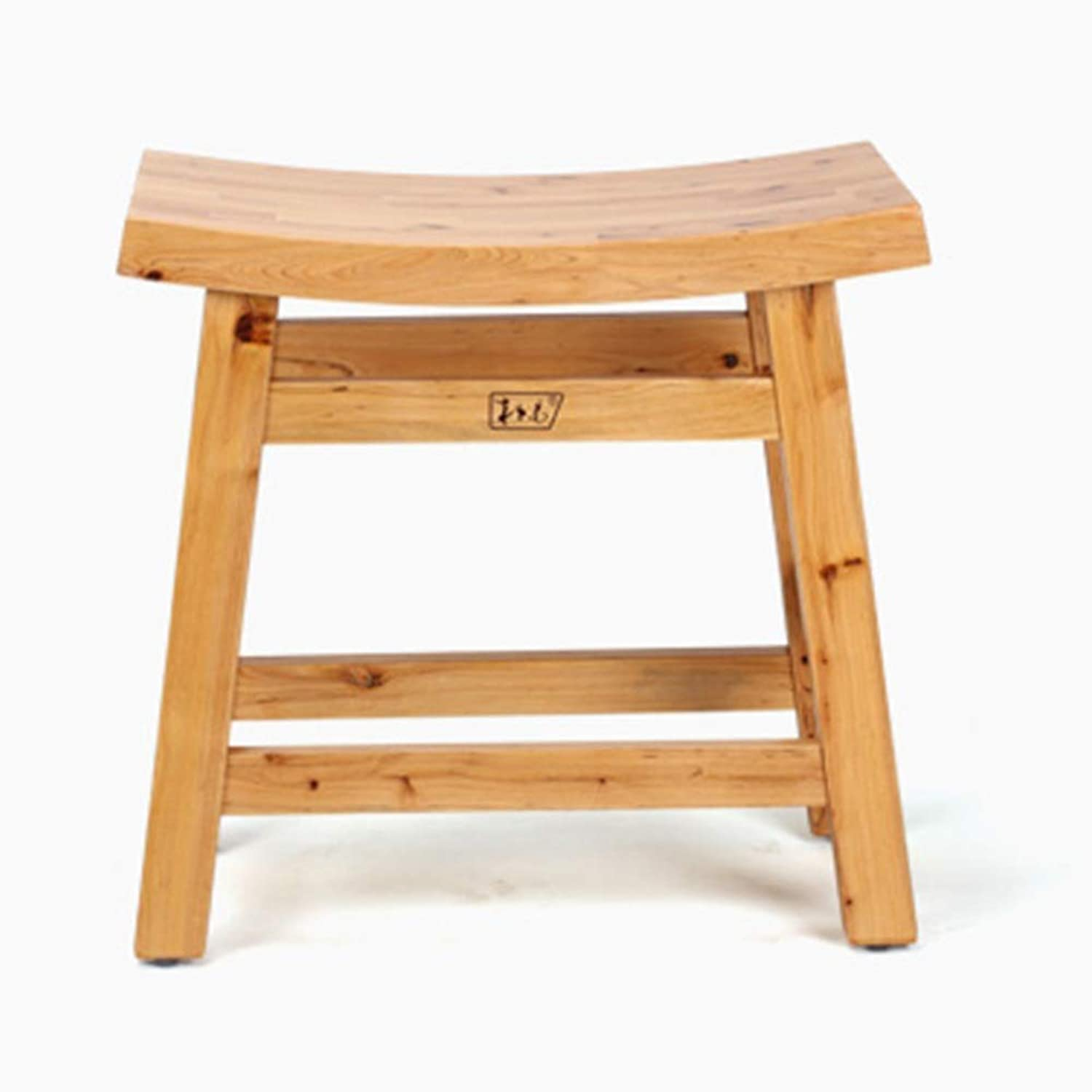 ZHANGQIANG Home Stool, Solid Wood Small Stool, Small Square Stool, Small Wooden Stool, shoes Stool, Coffee Table Stool (color   Wood color, Size   24.8  44.8  43.5cm)