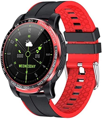 Reloj inteligente para hombre con Bluetooth llamada presión arterial 24 horas de ritmo cardíaco Fitness Tracker Smartwatch Multi-modo de deportes (Color: B)-B-A