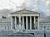 Diy Pintura Pintura Por Decoración Del Hogar Digital Kit Kit De Pintura 40X50Cm Edificio Del Parlamento De Viena Y Austria Pintura Digital Para Adultos Pinturas Artísticas