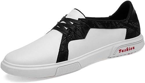 Meilleures ventes ventes Chaussures Oxford paniers mode pour hommes occasionnels couture confortable chaussures décontractées à lacets en dentelle Robe Oxford Chaussures ( Couleur   Blanc , Taille   46 EU )  plus d'escompte