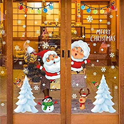 Upriver Christmas Snowflakes Window Clings, Christmas Window Decoration, Adhesive Free Snowflakes Christmas Window Clings Decal Stickers, Window Stickers Decals for Christmas Party Decoration
