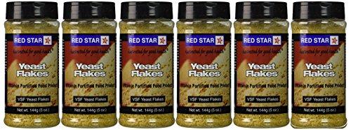 Red Star Nutritional Yeast - VSF Mini Flake -- 5 oz Each (Pack of 6)