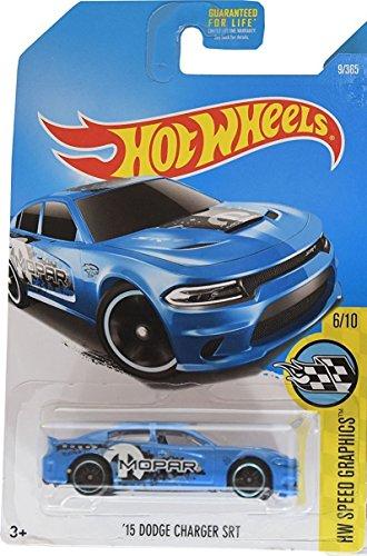 Hot Wheels, 2017 HW Speed Graphics, '15 Dodge Charger SRT [Blue] 9/365