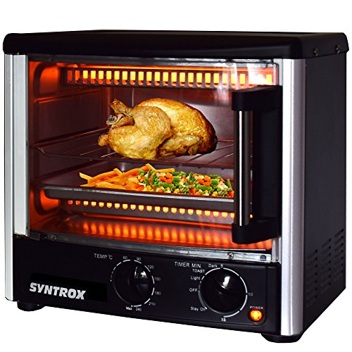 Syntrox Germany Back Chef 14 Liter Mini Stand Backofen Miniofen Minibackofen Pizzaofen