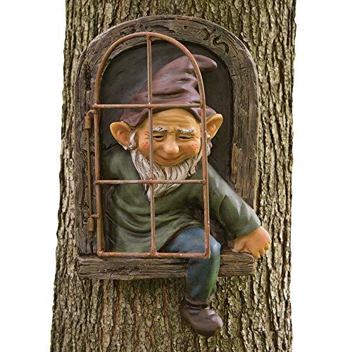 Bits And Pieces - Zwerg Aus Dem Fenster Baumdeko - Gartendeko - Baumgesicht - Skulptur