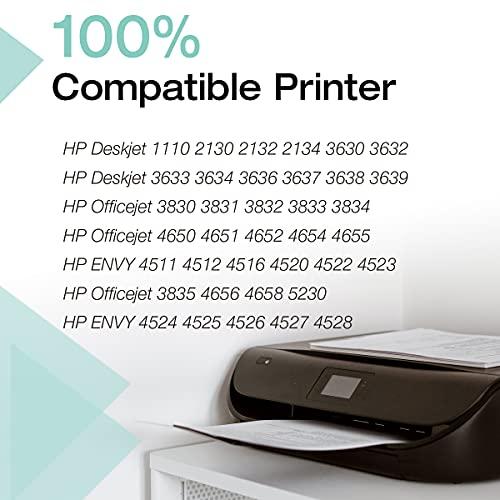 Clorisun 302 Cartuchos de tinta para HP 302 302 XL Negro Multipack para HP Officejet 3830 3831 3832 3833 Deskjet 1110 2130 2134 3630 3632 3634 5230 5220 Envy 4520 4521 4522 4523 4524 (2 unidades).