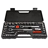 Stalwart 75-HT3014 SAE and Metric 1/4, 3/8 and 1/2 Drive Socket Set,...