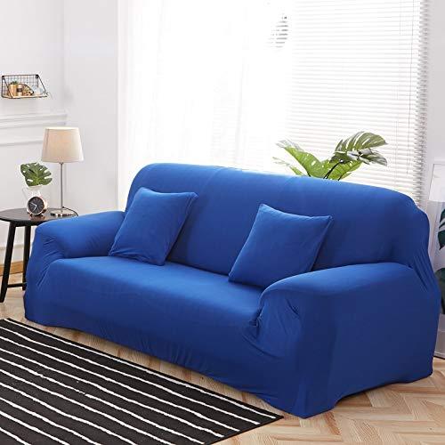 ASCV Funda de sofá de Color sólido para Sala de Estar Blanca como la Nieve Funda de sofá elástica a Prueba de Polvo Funda de sofá Toalla de sofá elástica A1 1 Plaza