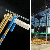 YNWUJIN 伸縮窓洗浄剤のスクレーパー、チタン合金多機能窓環境棒、高層清掃用具,10メートル