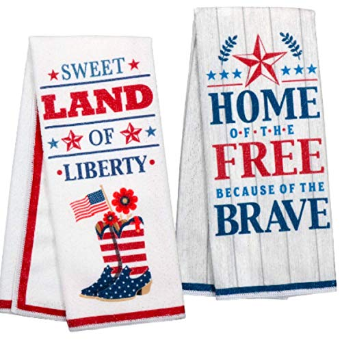 Top 10 Best Selling List for red white and blue kitchen towels