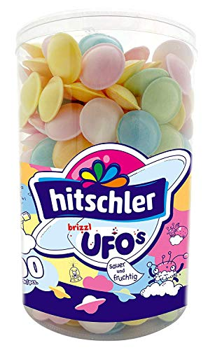 Hitschler Brizzl Ufos Frucht 400 Stück sauer prickelnde Ufos 480g