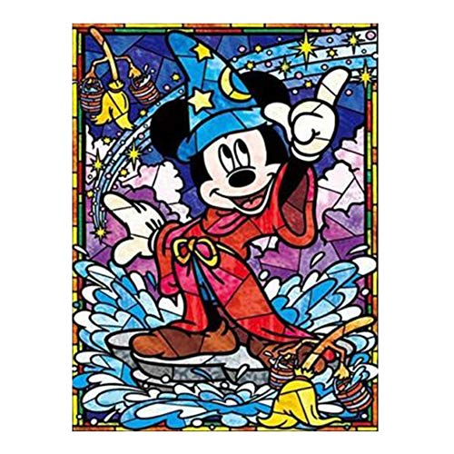 DIY 5D Diamond Painting Kits for Adults and Kids, 16'X12' Mickey Mouse Full Drill Crystal Rhinestone Embroidery Arts Craft Canvas Cross Stitch for Home Wall Decor