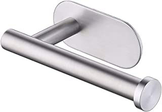 KES Self Adhesive Toilet Paper Towel Holder Tissue Paper Roll Holder RUSTPROOF Stainless Steel Brushed, A7170-2