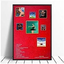 nr My Beautiful Dark Twisted Fantasy Album Pop Music Cover Music Star Poster Canvas Prints Arte de la Pared Decoración para el hogar 50x70cm sin Marco