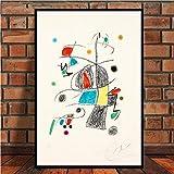 JYWDZSH Impresión De La Lona Famosos Cuadros Modernos Abstractos Retro Arte Pared Arte Lienzo Cuadros De Pared para Sala De Estar Decoración del Hogar, 30X42 Cm Sin Marco