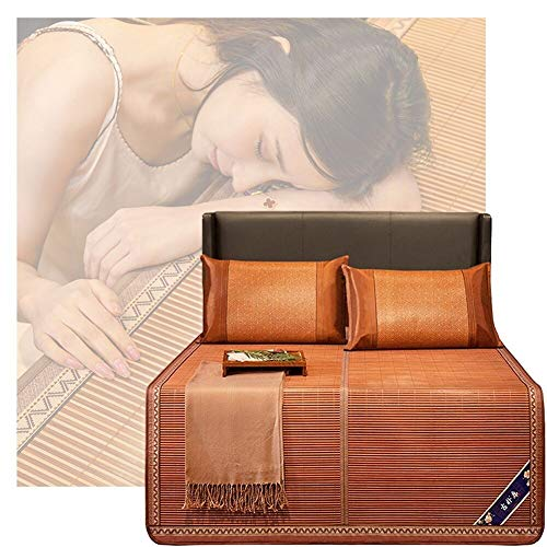 YJFENG-Esteradedormirverano, Bambú Natural Liso Flexible Durable Transpirable Engrosado Duradero Resistente Al Desgaste Sin Formaldehído Seguro para Niños, 9 Tamaños