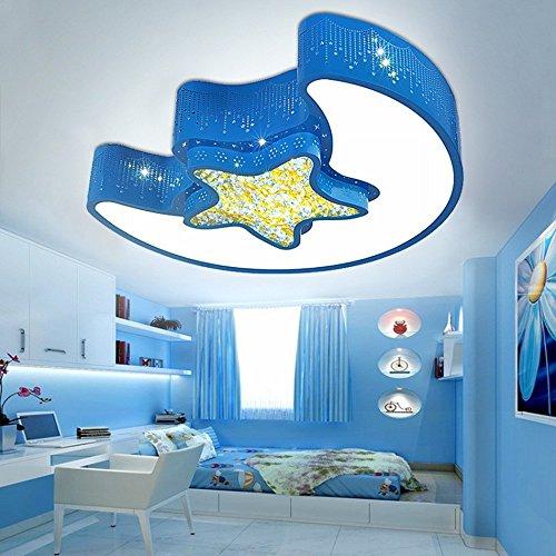 DBYY Moderne Minimaliste LED Plafonnier Xingyue Enfants 'S Lumières Étoiles Lune Chambre Lumières Acrylique Salon Lampes D'Éclairage,Une,40 CM