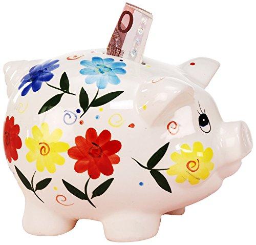 Unbekannt Sunny Toys 11952 Porzellan Sparschwein Circa 23 cm mit Schloß
