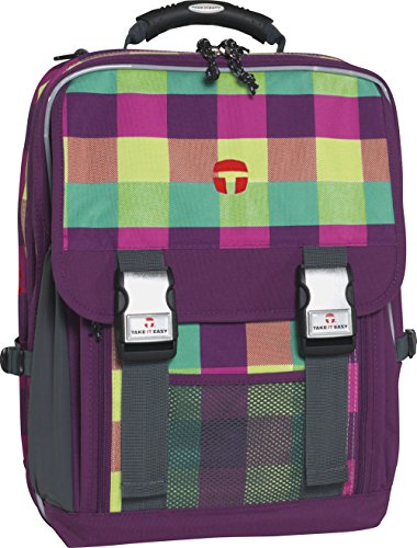 Take It Easy Schulrucksack LONDON Soho 482210 grün/lila