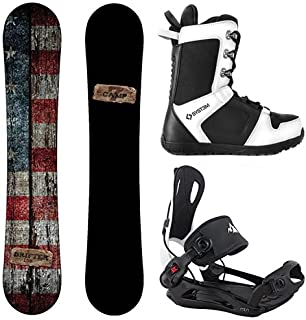 Camp Seven Drifter and 2020 System MTN Rear Entry Step in Binding Men's Complete Snowboard Package