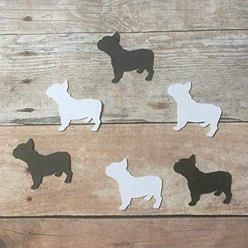 French Bulldog Confetti, Animal Decorations, Dog Party Supplies, Pet Theme, French Bulldog Cut Outs, Dog Party Supplies, Table Scatter, Dog Cut Out