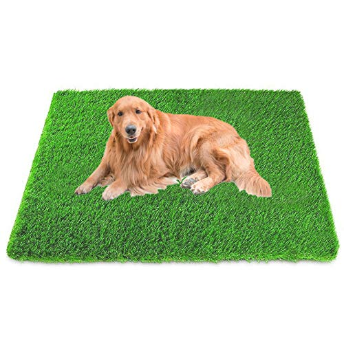 NUFR 47.24inx31.5in Dog Grass Artificial Turf Pet Fake Grass Pee Pads Doormat for Puppy Potty Trainer Indoor Outdoor Rug Patio Lawn